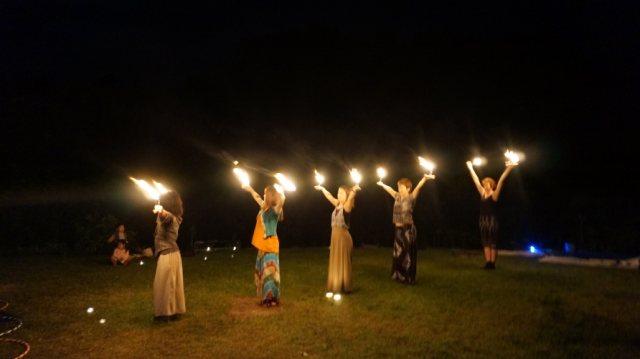 Palm Candles at Hoopie Garden